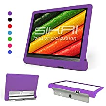 Lenovo Yoga Tab 3 pro 10 Case - SIKAI® Soft Silicone case Cover Fit Lenovo YOGA Tab 3 Pro 10.1-Inch Tablet Silicone case For Lenovo Yoga Tab 3 Pro 10 video tablet case cover Lenovo X90F\M\L Projector (Purple)