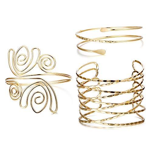Hanpabum Arm Bracelets for Women Greek Roman Twisted Cross Cage Bracelet Armband Upper Arm Cuff Armlet, Fashion Wedding Jewerly Set