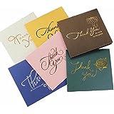 卸の店 3Qメッセージカード 封筒付 グリーティングカード バースデーカード(サンキュー 12枚セット・6種類*2) かわいいメッセージを大切な人へ