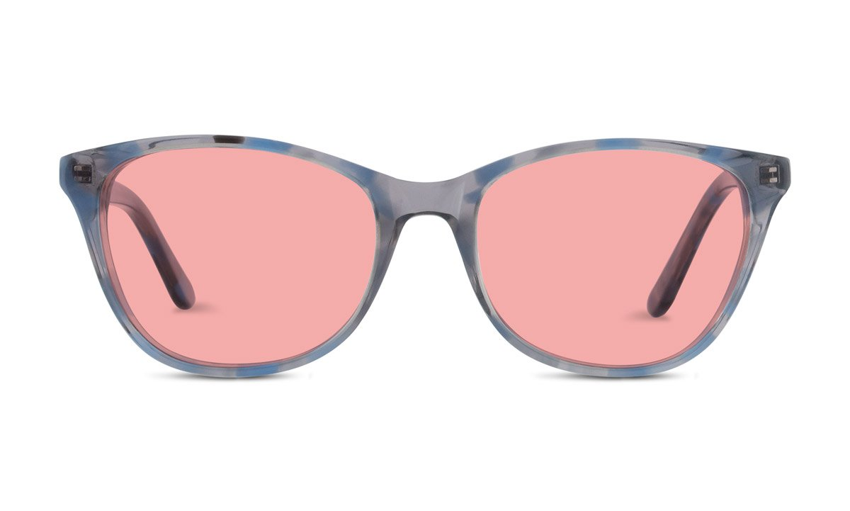 Audrey TheraSpecs Fluorescent Light and Migraine Glasses: Indoor Tint for Women (Indoor, Blue) by TheraSpecs