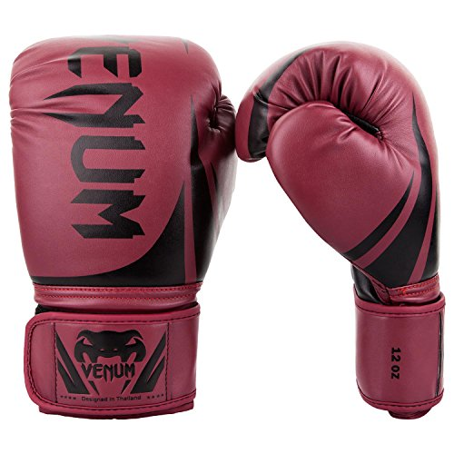 Venum Challenger 2.0 Boxing Gloves - Red Wine/Black - 12-Ounce