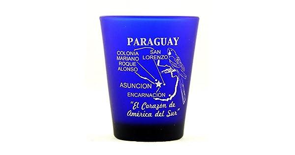 Amazon.com: Paraguay Azul Cobalto Shot Glass: Kitchen & Dining