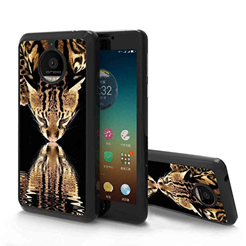 (Leopard Drinking Water Soft Phone Case Compatible Moto E4 Plus (2017) [5.5in])