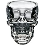 ABCTen Crystal 3D Skull Head Pirate Vodka Shot Glass Drink Cup Pack of 2
