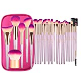 Makeup Brush Set, JAF 26pcs Vegan Cruelty Free Hypoallergenic Unscented Cute Rose Gold Professional Makeup Brushes Set Essential Cosmetic Makeup Brushes for Powder Foundation Blush Contour Concealer H