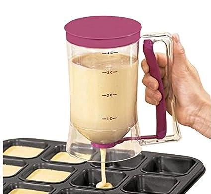 Yijia Baking Pastry Tools Alimentos grado de plástico Morado Batter Dispensador de pasteles reposteria Decorar Herramientas