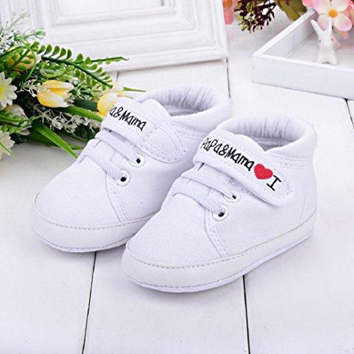 Kind Leinwand Weiß Baby Niedlich Kleinkind Mädchen Schuhe weiche Amison Sohle Sneaker Junge Säugling 1CtUwxx78