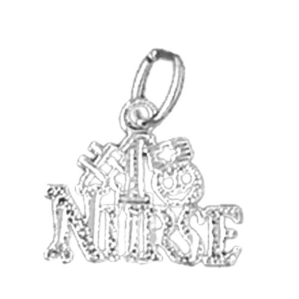 Jewels Obsession #1 Nurse Necklace Rhodium-plated 925 Silver #1 Nurse Pendant with 16 Necklace