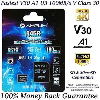 Amazon.com: 64GB Micro SD Card Plus Adapter Pack, Amplim 64 ...