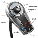 GOgroove FlexSMART X2 Bluetooth FM Transmitter for Car Radio w/ USB Charger , Multipoint , Music Controls , Hands Free Microphone for iPhone , Android