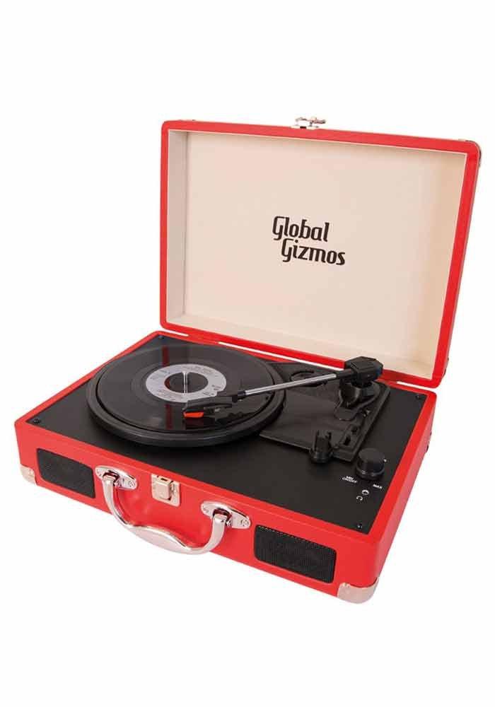 Mr.Giggelz Tragbarer Schallplattenspieler - rot