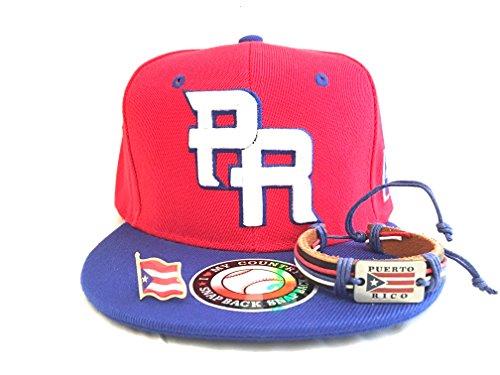 Puerto Rico Baseball snapback 3pc Edition Boricua style Puerto Rican pride pack (Rico Wristband)