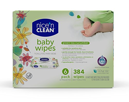 Nice 'n Clean Green Tea & Cucumber Baby Wipes, 384 Count ()