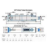 CWA Hydraulics WT Weld Cross Tube Cylinder