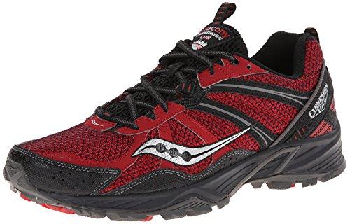SAUCONY Excursion TR8 Zapatilla de Trail Running Caballero rojo/negro