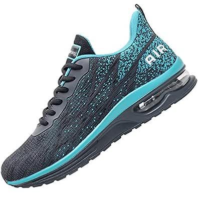 Impdoo Mens Air Athletic Running Sneaker Cute Fitness Sport Gym Jogging Tennis Shoes (Graygreen US 7 B(M)