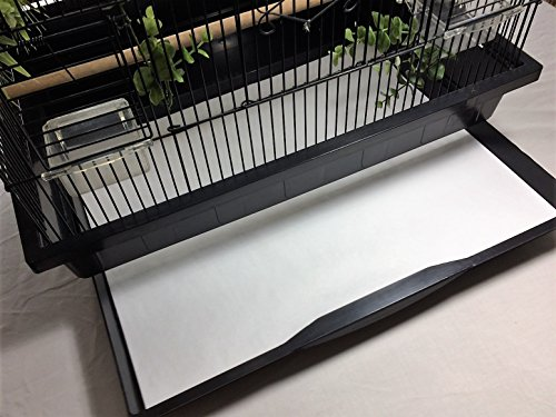 BirdCageLiners - POLY COATED - Large Cages - Custom Size - 100 Pre-Cut (Bird Liner)
