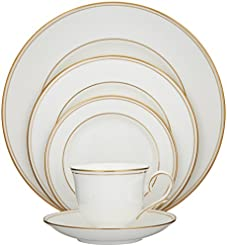 Lenox Federal Gold Bone China 5 Piece Place Setting  sc 1 st  Amazon.com & Amazon.com: Bone China - Dinnerware Sets / Dining \u0026 Entertaining ...