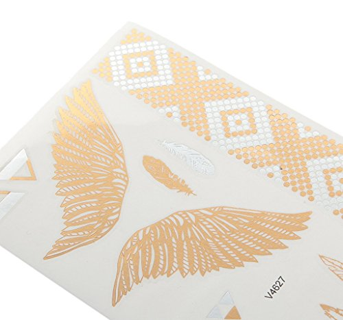 Bigood Colorful Nontoxic Double Wing Temporary Tattoo Sticker Paster by Bigood (Image #1)