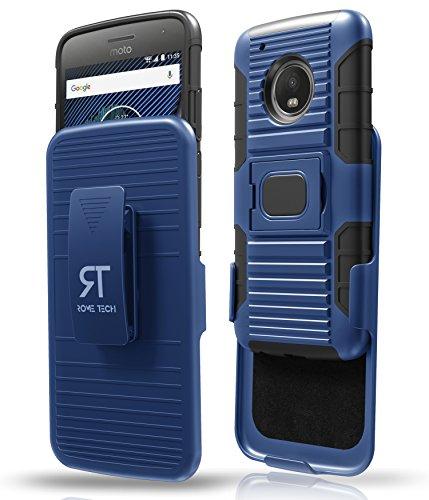 Moto G5 Plus Phone Case with Swivel Belt Clip Holster for Motorola Moto G5 Plus - Blue