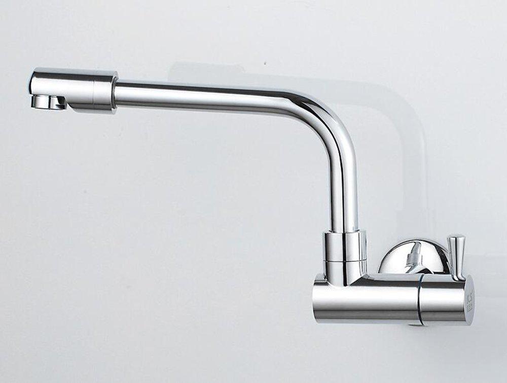 Nella parete di un singolo rubinetto a base di acqua fredda del rubinetto del pozzetto ha allungato il balcone lavandino del rubinetto del rubinetto del rubinetto del rubinetto del rubinetto del lavandino della cucina può essere ruotato CivilWeaEU