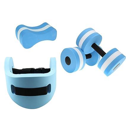 dovewill agua Kits – de aeróbic acuático mancuernas/Pull Buoy/ – Cinturón de natación
