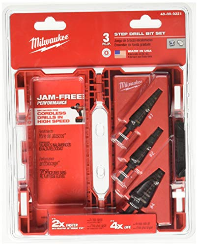 Milwaukee Cobalt Drill Bit - Milwaukee GIDDS2-2475514 Step Bit 3-Piece Set (#1, 2, 4)