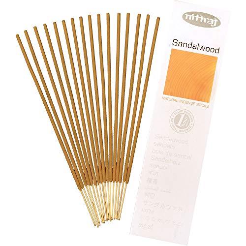 Nitiraj Platinum Natural Incense Sticks Slow Burning 1hr. 2Pack Sandalwood