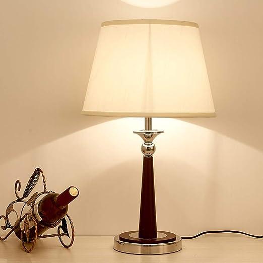 JFHGNJ lámpara de Mesa Dormitorio Mesita de Noche Estilo Chino ...