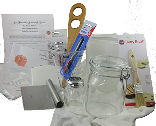 Organic San Francisco Sourdough Starter Expert Baker Bread Maker Tool Kit by SourdoughBreads