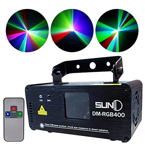 電光ホーム レーザービーム リモコン付き [簡単操作 単色切り替え可能] レーザーライト プロジェクター RGB (レッドグリーンブルー) LS-RGB400  RGB (レッドグリーンブルー) B00JQ21BQK