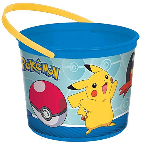 amscan Electrifyingly Cute Pikachu & Friends Birthday Party Plastic Favor Container, 1/2