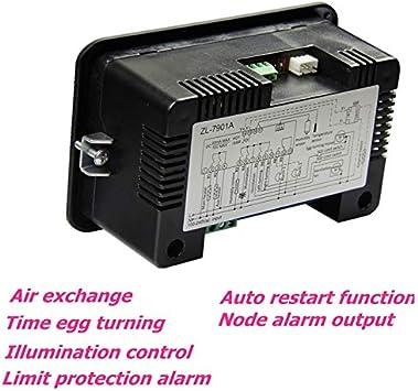 SNOWINSPRING Zl-7901A,100-240Vac,Pid,Multifunctional Automatic Incubator,Incubator Controller,Temperature Humidity for Incubator