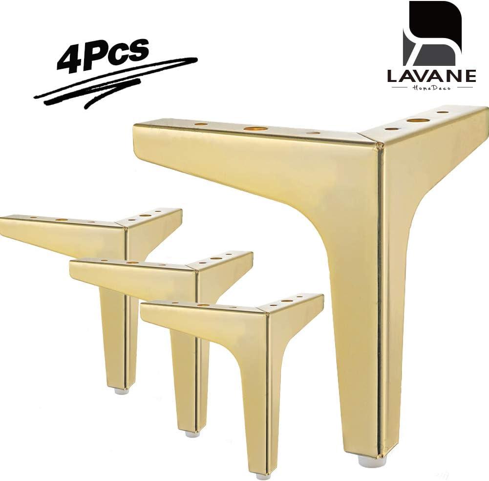 ottoman canap/é fauteuil La Vane Lot de 4 pieds de meubles modernes en m/étal triangulaire avec diamant pour placard
