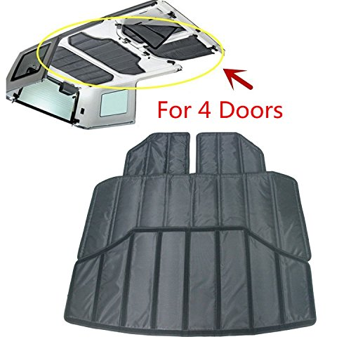 Bolaxin Black Hardtop Sound Deadener & Insulation for 2012-2016 Jeep Wrangler (4-door) (Jeep Wrangler Unlimited Hardtop)