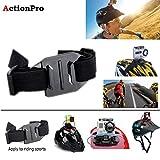 Action Pro Vented Adjustable Head Helmet Strap Belt Go Pro Mount HoldeAdapter For Sport Gopro HD Hero 1 2 3 4 5 Sj Cam Yi Camera Accessories-Black