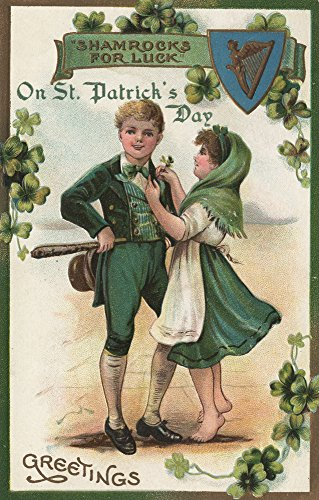 St. Patrick's Day Greeting - Shamrocks for Luck