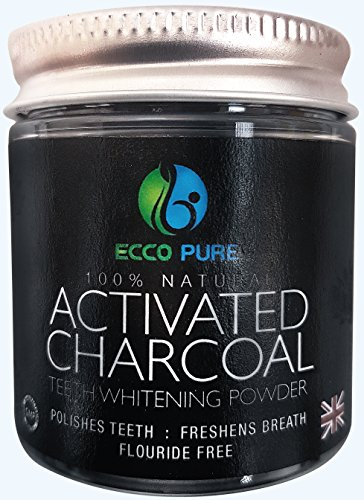 Activated Charcoal Natural Teeth Whitening Powder | Proven Safe For Enamel | Higher Efficiency Than Charcoal Toothpaste, Strips, Kits, & Gels