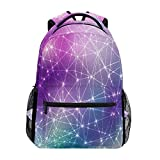 ALAZA Galaxy Space Stars Durable Backpack Book College School Travel Backbag Shoulder Bag for Women Girls Men Boys