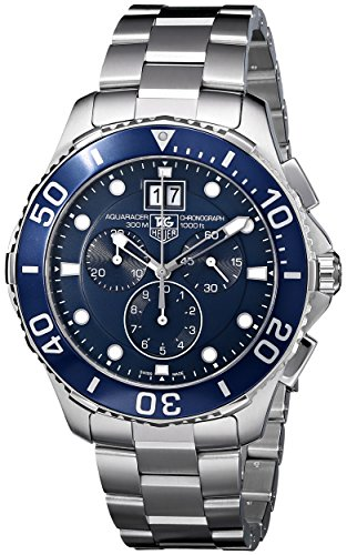- TAG Heuer Men's CAN1011BA0821 Aquaracer Blue Dial Watch