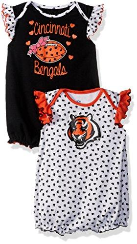 Cincinnati Bengals Heart - NFL Infant Heart Fan 2 Piece Creeper Set-Black-12 Months, Cincinnati Bengals