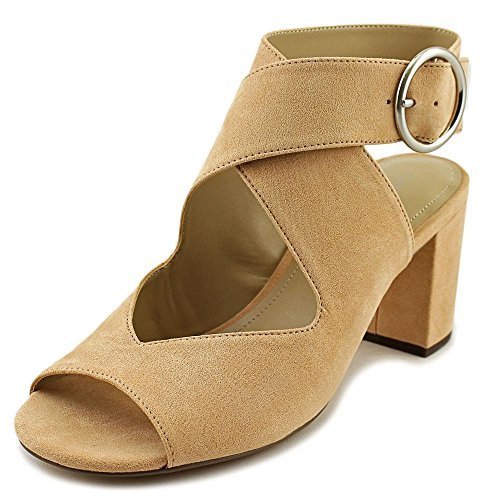 Charles by Charles David Womens Kali Suede Peep Toe Casual Ankle Strap Sandals Nude t15L369t