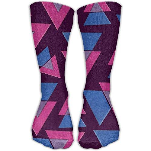 Pride Triangle (Bisexual Pride Triangles Flag Funny Women's Colorful Hiking Socks Casual Mid-Calf Socks)