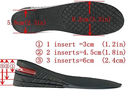 Heel lift Pad shoe insole high Air Cushion 6cm Speech Election Special Day Hope