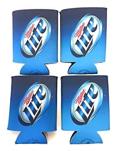 - Miller Lite Blue Beer Can Cooler Insulator - 4 Pack