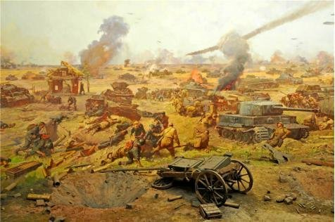 Perfect Effect Canvas ,the Best Price Art Decorative Prints On Canvas Of Oil Painting 'The Battle Of Kursk', 10x15 Inch / 25x38 Cm Is Best For Gym Artwork And Home (Restoration Comedy Costumes)
