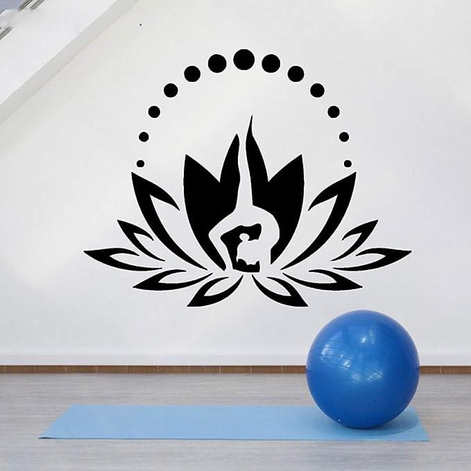 yaoxingfu Lotus Flower Vinyl Decal Sticker, Meditación Yoga Zen ...
