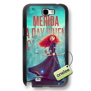 Disney Brave Princess Merida Soft Rubber(TPU) Phone Case & Cover for Samsung Galaxy Note 2 - Black