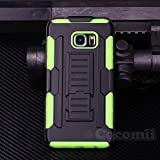 Cocomii Robot Armor Galaxy S6 Edge+ Plus Case NEW [Heavy Duty] Premium Belt Clip Holster Kickstand Shockproof Bumper [Military Defender] Full Body Cover for Samsung Galaxy S6 Edge+ Plus (R.Green)