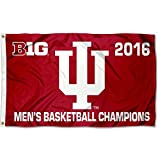 Cheap College Flags and Banners Co. Indiana Hoosiers Big 10 Men's 10 2016 Champions Flag